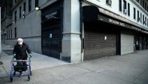 الإقفال مستمر في نيويورك خوفاً من انتشار كورونا (Getty)