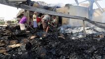 اليمن/ الحديدة/ قصف التحالف/ Getty