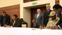 مفاوضات المجلس العسكري السوداني وقوى إعلان الحرية والتغيير(فرانس برس)