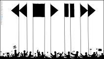 كاريكاتير رايات الثورة / حجاج
