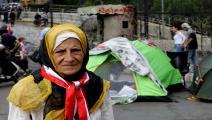 المسنون في ساحات لبنان المنتفضة (أنور عمرو/فرانس برس)