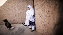 أفغانية تعاني من سرطان الثدي/مجتمع (بهروز مهري/ فرانس برس)