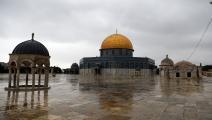 المسجد الأقصى يخلو من المصلين خوفاً من كورونا (Getty)