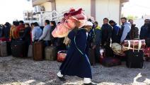 عمال مصريون في ليبيا/ فرانس برس