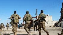 عناصر من الجيش الوطني السوري-أحمد حطيب/الأناضول