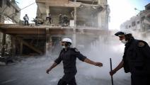 سورية/الدفاع المدني السوري/الخوذ البيضاء/سمير الدومي/فرانس برس