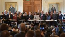 حكومة السويد/سياسة/JESSICA GOW/فرانس برس