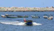 فلسطين مراكب قوارب صيد غزة فرانس برس أغسطس 2018