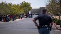 إخلاء متجر بعد إطلاق نار بتكساس(جويل أنجل خواريز/فرانس برس)