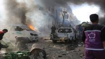 سياسة/قصف إدلب/(محمد كركاس/الأناضول)