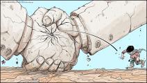 كاريكاتير صفقة القرن / حجاج