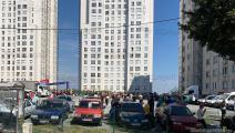 غادر سكان إسطنبول البنايات بسبب الزلزال (أحمد الداوودي)