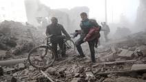 سورية/سياسة/ضحايا مدنيون/(سامر الدومي/فرانس برس)