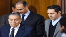 مبارك ونجلاه في المحكمة ديسمبر 2019 فرانس برس