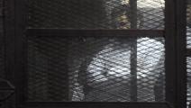 الناشط المصري علاء عبد الفتاح أثناء محاكمته (Getty)