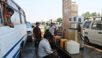 اليمن/اقتصاد/محطة وقود في اليمن (عدن)/01-01-2016 (Getty)