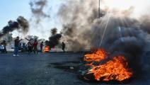 سياسة/احتجاجات العراق/(أسعد نيازي/فرانس برس)