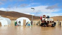 غرق خيام اللاجئين السوريين في لبنان (العربي الجديد)