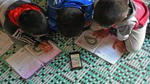أغلق تفشي كورونا المدارس حول العالم (رامي السيد/فرانس برس)