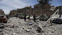 سياسة/غارات اليمن/(محمد هويس/فرانس برس)