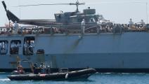 البحرية الإيطالية تنقذ مهاجرين سريين في المتوسط(بو بارينا/فرانس برس)
