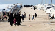 النساء والأطفال أكثر المتضررين بمخيم الهول (جوسيبي كاكاس/فرانس برس)