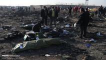 آثار تحطم الطائرة الأوكرانية في إيران (وكالة مهر للأنباء)