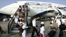 هجرة اليهود- فلسطين المحتلة(فرانس برس)