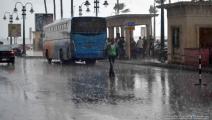 أمطار غزيرة تغرق مدينة الإسكندرية
