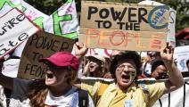 قوة الشباب مقابل السلطة السياسية في قمة المناخ(نيكولو كامبو/Getty)