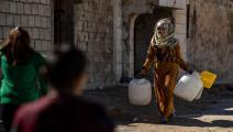 أهالي الحسكة السورية يعتمدون على الصهاريج لتأمين المياه (Getty)