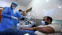 أزمة بمستشفيات العراق بسبب كورونا (أسعد نيازي/فرانس برس)