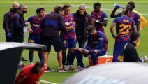 أزمة في برشلونة...شجار بين المدرب واللاعبين!