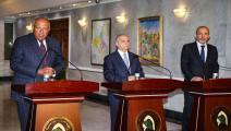اجتماع وزراء خارجية مصر والعراق والأردن (فرانس برس)