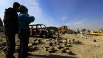 أطفال سوريون وألغام في الرقة - سورية - مجتمع