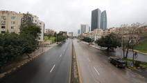 شارع رئيسي بالعاصمة الأردنية أثناء حظر التجول (Getty)