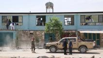 أفغانستان/ ضباط يتفقدون تفجيراً (Getty)