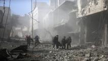 سورية/سياسة/ضحايا مدنيون/(عبد المنعم عيسى/فرانس برس)