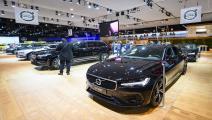 """""""فولفو إكس.سي 90"""" Volvo XC90 معروضة في بروكسل (Getty)"""