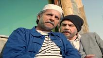 الممثلان نبيل عسلي ونسيم حدوش خلال تصوير المسلسل (يوتيوب)