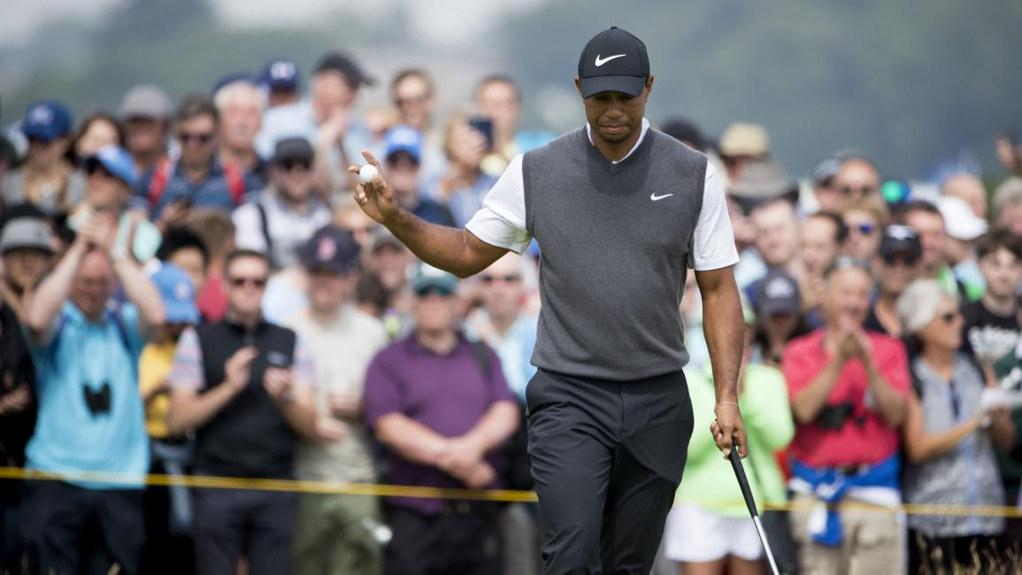 21/07/18 THE 147TH OPEN DAY THREE.CARNOUSTIE .Tiger Woods takes the