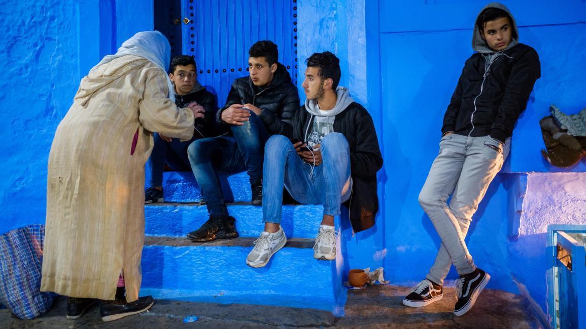 شبان مغاربة في شفشاون Getty