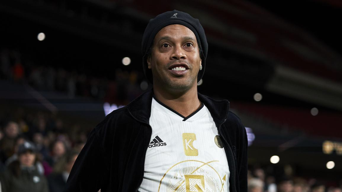 MADRID, SPAIN - DECEMBER 21: Ronaldinho of Goldstandard looks on during a friendly match at Wanda Metropolitano on December 21, 2019 in Madrid, Spain. (Photo by Quality Sport Images/Getty Images)
