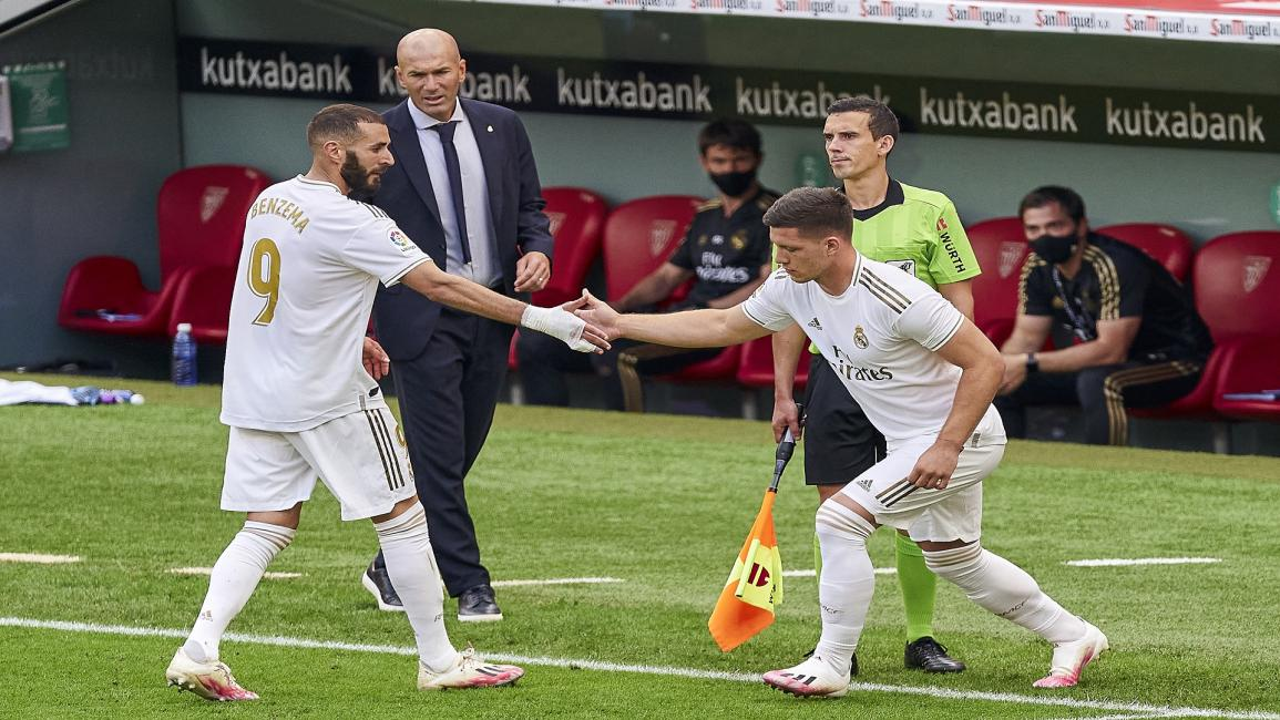 zidane and Luka Jovic