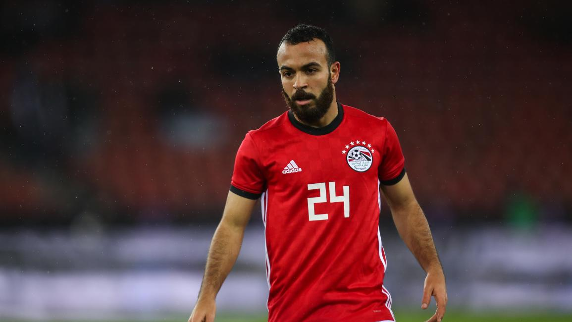 ZURICH, SWITZERLAND - MARCH 27: Mohamed Magdy of Egypt during the International Friendly match between Egypt and Greece at Stadion Letzigrund at Letzigrund on March 27, 2018 in Zurich, Switzerland. (Photo by Robbie Jay Barratt - AMA/Getty Images)