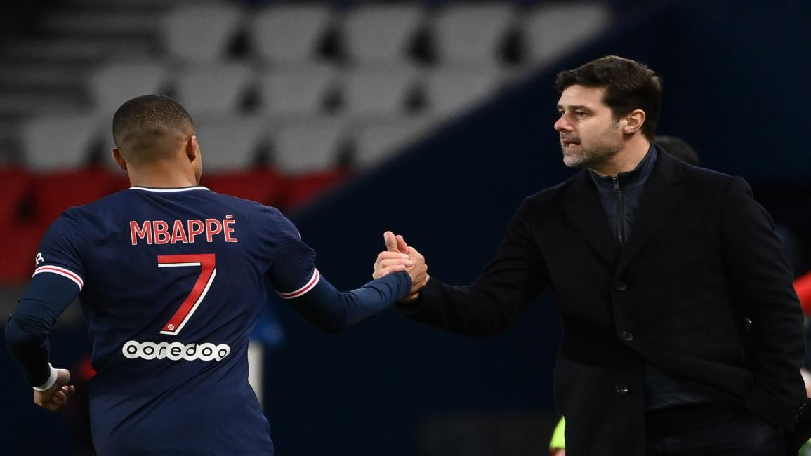Pochettino and  Mbappe