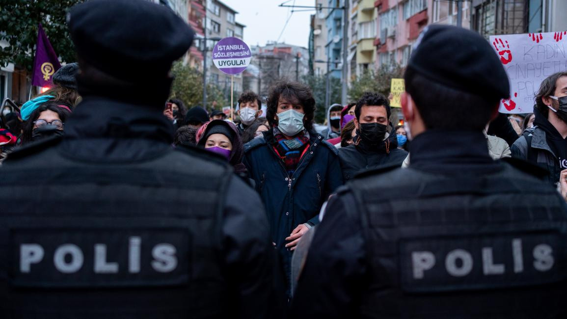 من احتجاجات السبت في إسطنبول (إرهان دمرطاش/ Getty)