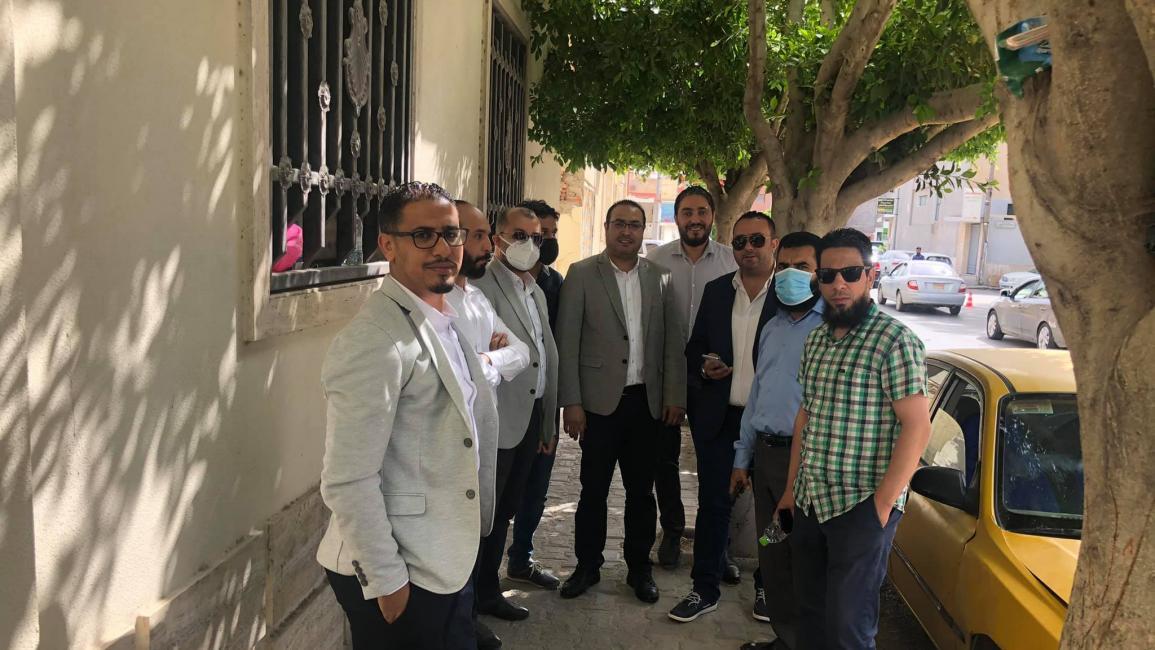 من إضراب أطباء ليبيا (فيسبوك)