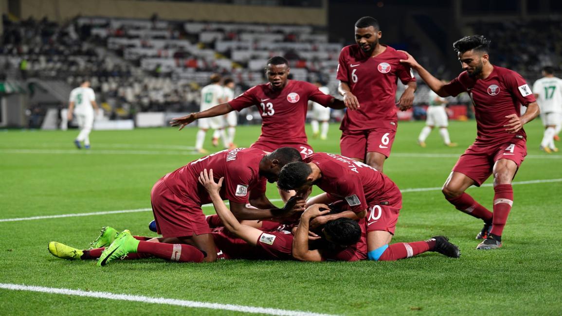 فرحة لاعبي المنتخب القطري