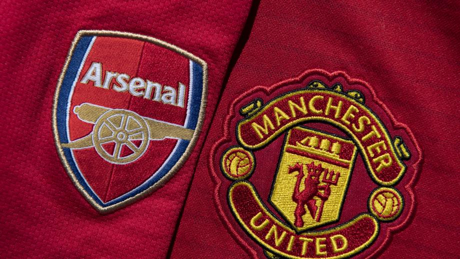 Manchester United and Arsenal Club Crests